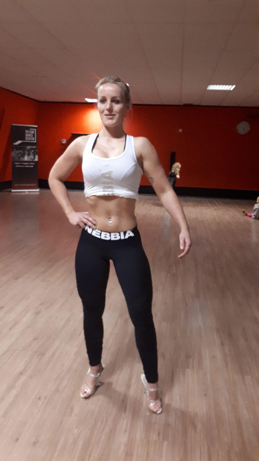 Sabine's eerste bikini fitness wedstrijd